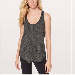 NWT Lululemon singlet tank in heathered black sz 6